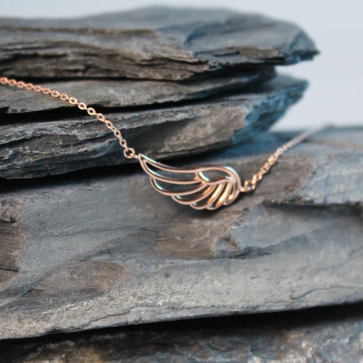 Armkettchen mit Flügel Silber rosévergoldet