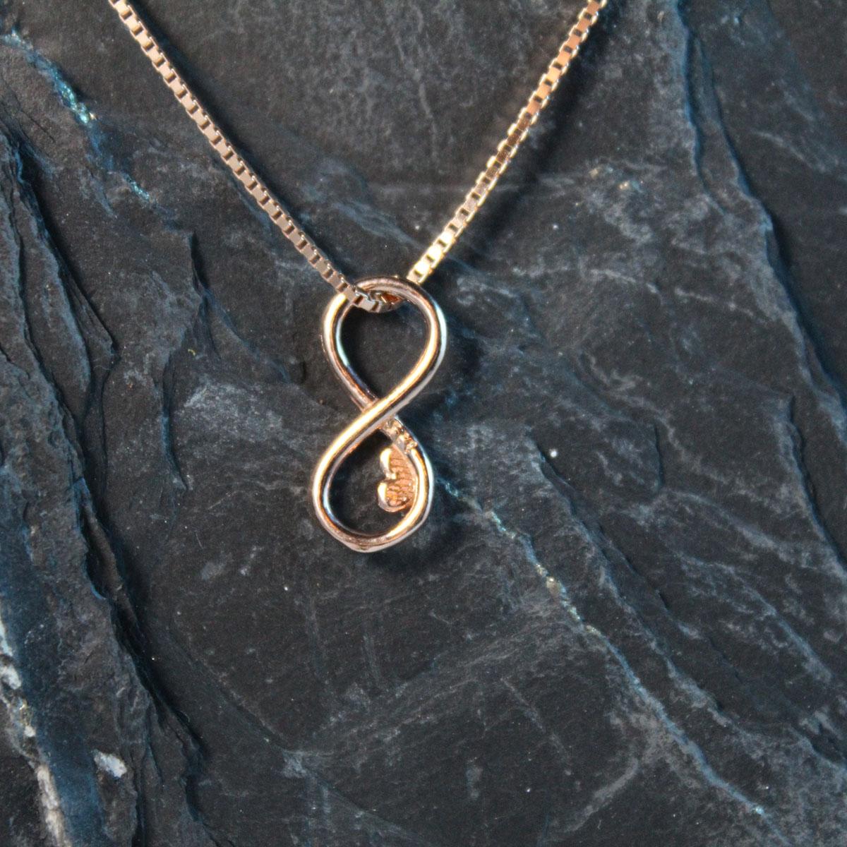 Schmuckextra Infinity Silber rosévergoldet