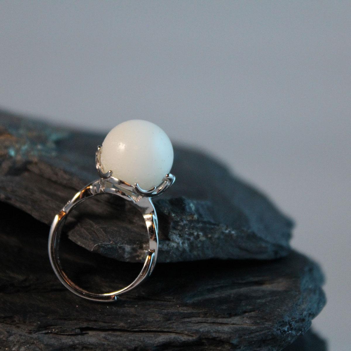 Muttermilchschmuck Ring mit Muttermilchperle