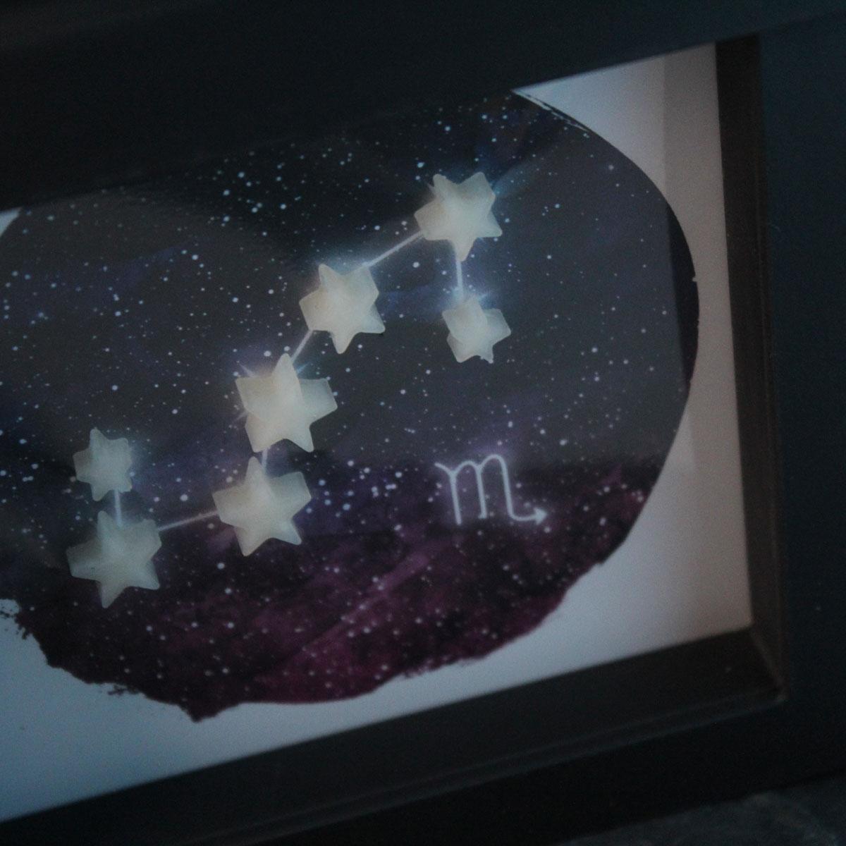 Muttermilchschmuck Galaxie in Schweberahmen