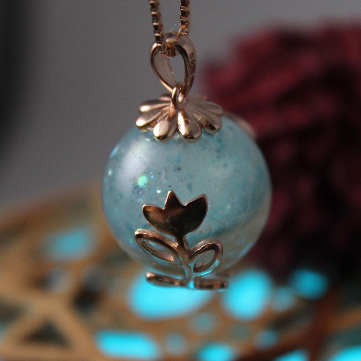 Tierzauber Perle mit Blumenranke